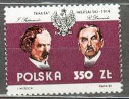 POLAND MNH ** 3037 Traité De Versailles Paderewski Dmowski - 1944-.... République