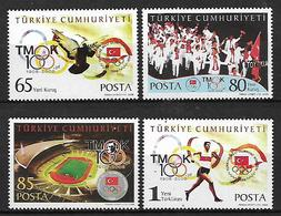 TURKEY 2008 Sc#3110-13 National Olympic Commitee Complete Set MNH LUX - 1921-... Republik