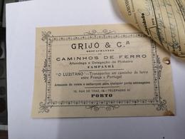 FACTURA/ RECIBO PORTUGAL DESPACHANTE CAMINHOS DE FERRO GRIJO E COMPANHIA RUA DE TRAZ PORTO - Portugal