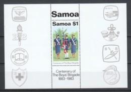 Samoa 1983 Mi Block 31 MNH SCOUTING - Unused Stamps