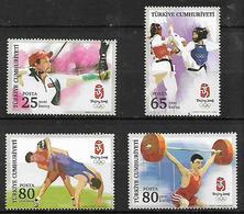 TURKEY 2008 Sc#3125-28 Olympic Games 2008 Beijing Complete Set MNH LUX - 1921-... Republic