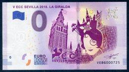 ESPAGNE SPAIN ESPAÑA (2018) BANKNOTE BILLET TOURISTIQUE 0 EUR V ECC SEVILLA 2018. LA GIRALDA. EXFILNA - EURO