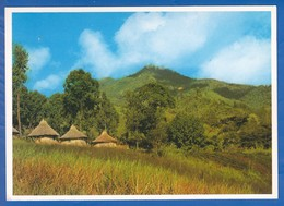 Papua Neuguinea; Round Hauses; Highlands - Papua New Guinea