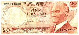 Billet > Turquie > Année 1970  > Valeur 200 Lire - Turquie