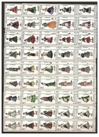 España Spain 1967 To 1971 -  Costume Regional 53 Stamps Block Of 4 Set MNH - 1931-Hoy: 2ª República - ... Juan Carlos I