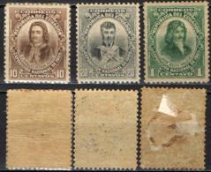 ECUADOR - 1909 - JOSE' MEJIA DE VALLEJO, JUAN PIO DE MONTUFAR, CARLOS DE MONTUFAR - MH - Ecuador