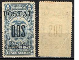 ECUADOR - 1912 - STEMMA CON SOVRASTAMPA - OVERPRINTED - MH - Ecuador