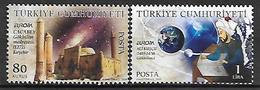 TURKEY 2009 Sc#3179-80 EUROPA 2009, Astronomy Complete Set MNH LUX - 1921-... Republik