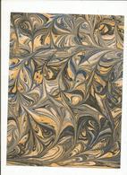 1 Feuille De Papier Marbré A La Cuve Réaliser Dans Mon Atelier ,Format 26 Cm X 19.5 Cm - Scrapbooking