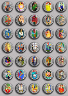 Henri Matisse Painting Fan ART BADGE BUTTON PIN SET 5 (1inch/25mm Diameter) 35 DIFF - Pins