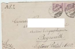 RC Regno Italia Busta Da Biella 16.01.22 Per Beyrouth Siria - 1900-44 Vittorio Emanuele III