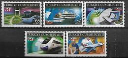 TURKEY 2009 Sc#3163-67 70th Anniv. Of Ministry Of Transport & Communications Compete Set MNH LUX - 1921-... Republik