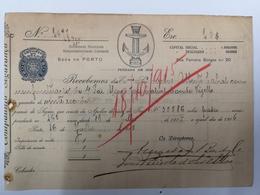 FACTURA/ RECIBO PORTUGAL COMPANHIA SEGURANÇA PORTO 1915 - Portugal