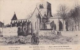 SUIPPES L'EGLISE DETRUITE PAR LES ALLEMANDS (dil415) - Sonstige Gemeinden
