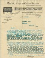 REVEL BOUSQUET PRADIER FRANCILLON MEUBLES D ART ET GENRE ANCIEN MARQUETERIE ET BRONZES ANNEE 1939 A MR DOUAT A MASSAGUEL - Francia