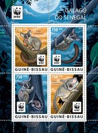 GUINE BISSAU 2015 SHEET WWF BUSHBABY GALAGO DO SENEGAL PRIMATE SIMIOS APES MONKEYS WILDLIFE Gb15703a - Guinea-Bissau