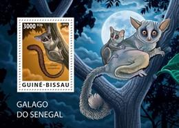 GUINE BISSAU 2015 SHEET WWF BUSHBABY GALAGO DO SENEGAL PRIMATE SIMIOS APES MONKEYS WILDLIFE Gb15703b - Guinea-Bissau