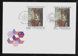 2016 Joint/Gemeinschaftsausgabe Liechtenstein Czech Republic, MIXED FDC BOTH STAMPS: Painter Gerrit Dou - Gezamelijke Uitgaven