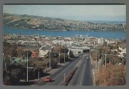 V6731 NEW ZEALAND DUNEDIN CITY FROM STUART STREET BRIDGE OTAGO HARBOUR VG Cut Taglio (m) - Nuova Zelanda