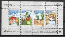 TURKEY 2009 Sc#3190 Haci Bektas Veli Miniature Sheet Of 4 MNH LUX - 1921-... Republic