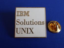 Pin's Arthus Bertrand - Informatique IBM - Solutions Unix - Zamac (YH53) - Computers
