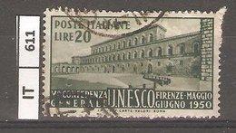 ITALIA REPUBBLICA   1950, Conferenza UNESCO A Firenze, L. 20, Usato - 1946-60: Used