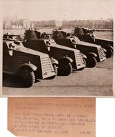 PHOTO PRESSE ARMEE HOLLANDAISE AUTO-CAMIONS BLINDEES 1936 HOLLANDE PAYS BAS AUTOMITRAILLEUSE - 1939-45
