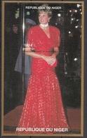 945a Niger 1997 Principessa Princess Of Wales Lady Diana Red Dress Vestito Rosso Sheet Nuovo  MNH - Niger (1960-...)