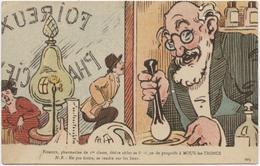 Illustrateur GRIFF, Humour, Pharmacie, Pharmacien,purgatif, Scatolodiarrhée, Jeu De Mots, Moux Les Troncs, Mou L'étron, - 1900-1949