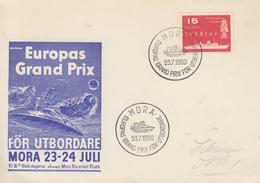Carte  SUEDE   Grand  Prix    De   JET  SKI      MORA   1960 - Jet Ski