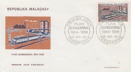 Enveloppe  FDC  1er  Jour   MADAGASCAR    Plan  Quinquennal   1968 - Madagascar (1960-...)