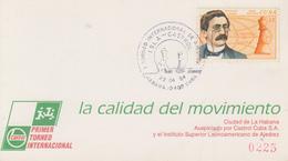 Carte  CUBA   1er   Tournoi   International  D' Echecs   LA   HAVANE   1994 - Echecs