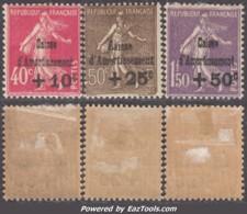 4ème Série Caisse D'Amortissement Oblitérés * TB (Y&T N° 266 à 268, Cote 150€) - Caisse D'Amortissement