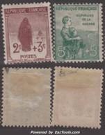 2c Et 5c De La 1ère Série Orphelins Neufs * TB (Y&T N° 148 / 149  Cote : 30€) - France