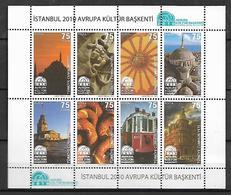 TURKEY 2010 Sc#3201-02 Istanbul Capital Of European Culture, Two Miniature Sheets Of 8 MNH LUX - 1921-... Republik