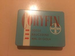 Scatola Di Latta Coryfin Bayern Medicinale Anni 50 Integra - Boxes