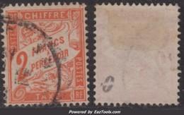 2Fr Orange Oblitéré TB (Y&T N° 41, Cote: 75€ ) - Taxes