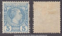 5c Charles III Neuf * TB (Y&T N° 3 , Cote 103€) - Monaco