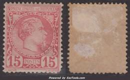 15c Charles III Neuf * Aspect TB (Y&T N° 5 , Cote 510€) - Monaco