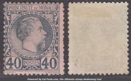 40c Charles III Neuf * TB (Y&T N° 7 , Cote 125€) - Monaco