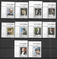 TURKEY 2009 Sc#3169-78 Kemal Ataturk Variou Photografs, Complete Set MNH LUX - 1921-... Republik