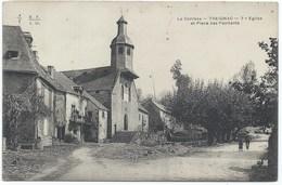 19 -Treignac - Eglise Et Place Des Pénitents- Vue Nette - Années 1900s - Treignac