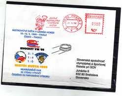 A223- CZECH REPUBLIC -ISHOCKEY VM '99 'CZECH WINNERS - SPECIAL COVER - Hockey (Ice)