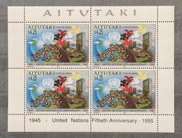 Aitutaki 1995; United Nations, Flags; MNH, Neuf**, Postfrisch; CV 40 Euro!! - Aitutaki