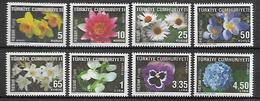 TURKEY 2009 Sc#o266-o275 FLOWERS, Incomplete Set (Lacks 75k 5L) MNH LUX - 1921-... Republik