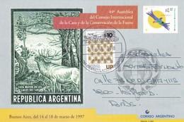 44 ASAMBLEA DEL CONSEJO INT CAZA Y CONSSERVACION DE LA FAUNA-ENTIER ENTERO- CIRCULEE ARGENTINA 2016 FDC- BLEUP - Postal Stationery