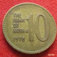 Korea South 10 Won 1978 KM# 6a  Corea Coreia Do Sul Koree - Korea, South
