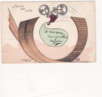 CPA  La Boucle Dans Le Vide Acrobate Bicyclette Vélo Cycling Radsport Cirque Circus Cirk Illustrateur Ph. NORWINS - Circus