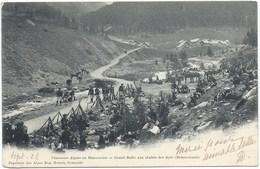 Briançon - Chasseurs Alpins En Manoeuvres - Grande Halte Aux Chalets Des Ayes - Carte Précurseur 1902 - Briancon