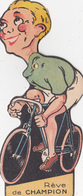 """(42) SAINT ETIENNE Découpi Tête Amovible Publicitaire Cycles """"B.G.A"""" Cycliste Vélo Bicyclette Sport Cycling (3 Scans) - Vieux Papiers"""